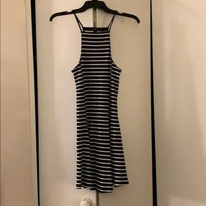 Forever 21 striped fit and flare dress